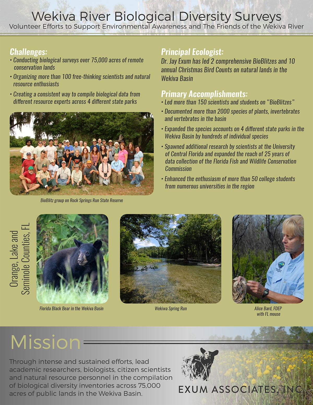 Wekiva Basin Case Study Poster