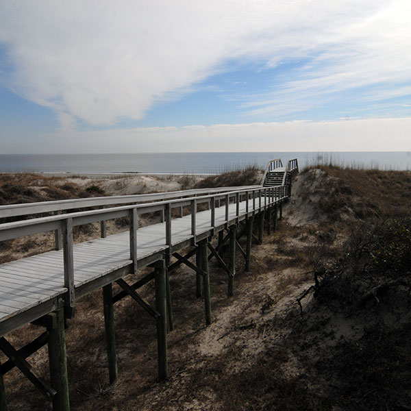 Boardwalk Across the Primary Dune