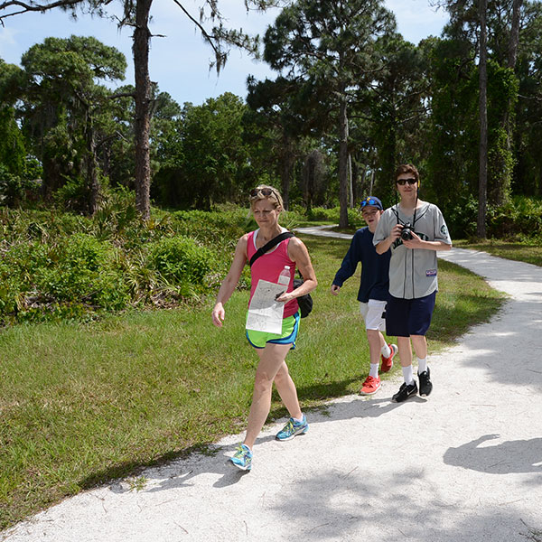 hikers at Lemon Bay Park