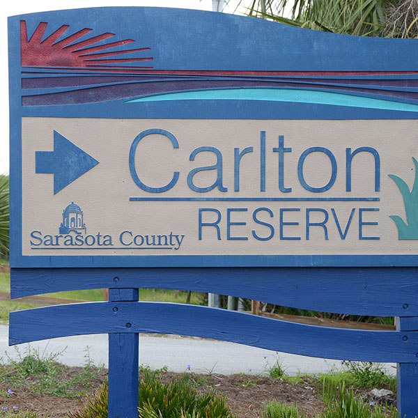 signage for the 25,000 acre Carlton Reserve Natural Lands